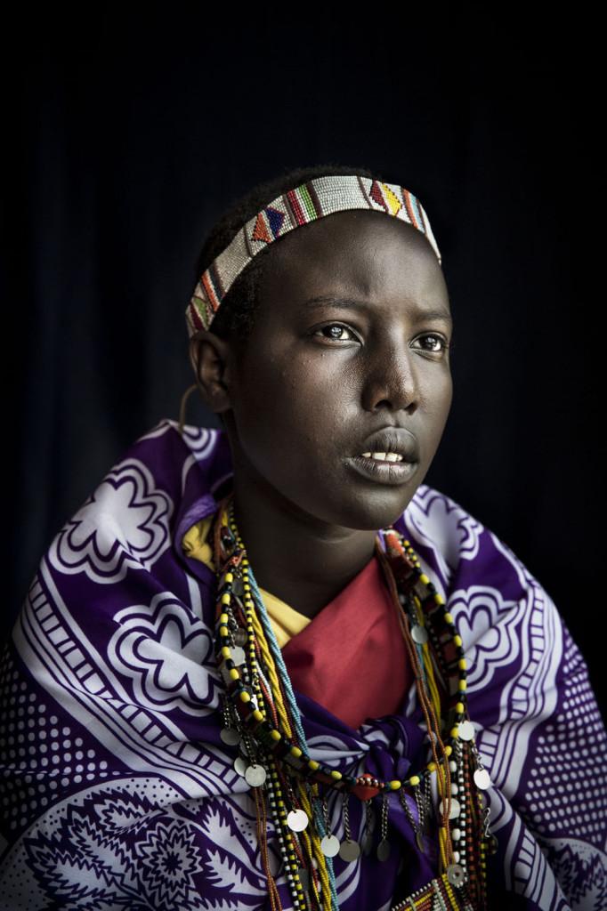 Serina Lorna Mpoe, 13, pakeni ympärileikkausta 10-vuotiaana Maasai-heimokylästään Keniassa. Kuva: Meeri Koutaniemi