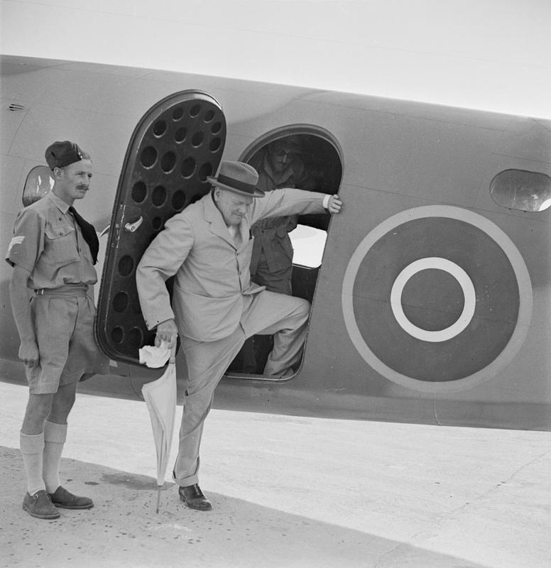 WINSTON CHURCHILL DURING THE SECOND WORLD WAR IN THE MIDDLE EAST. Royal Air Force official photographer /  AIR MINISTRY SECOND WORLD WAR OFFICIAL COLLECTION