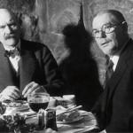 ◼Viimeinen kuva. Illallisella  taiteilija Albert Engströmin kanssa Den Gyldene Fredenissä  Tukholmassa 26. helmikuuta 1931.