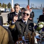 ◼Kommodori Murat Yilmazarslan rannikkovartioston Izmirin tutkohdassa.