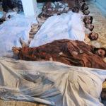◼Kaasuhyökkäyksessä kuolleiden syyrialaisten ruumiita kerättiin yhteen Arbeessa lähellä Damaskosta keskiviikkona 21. elokuuta.