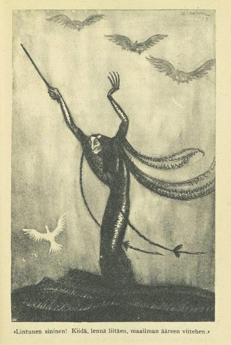 ◼Rudolf Koivu: Lintu sininen vuodelta 1921.