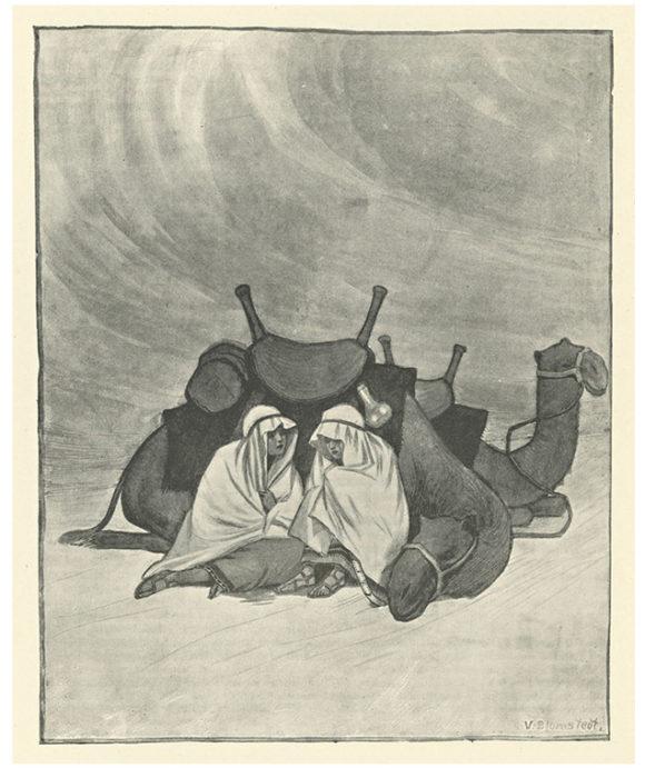 ◼Väinö Blomstedtin kuvitus Mirza ja Mirjam vuodelta 1906.