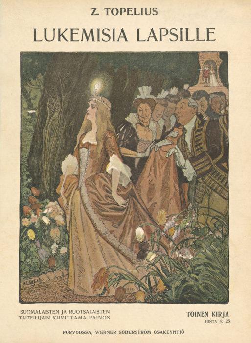 ◼Albert Edelfeltin kuvitusta Adalminan helmeen 1906.