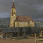 ◼ Pjotr Skoblikovin animaatioesitys kuvaa kirkkoa ulkoa ja sisältä.