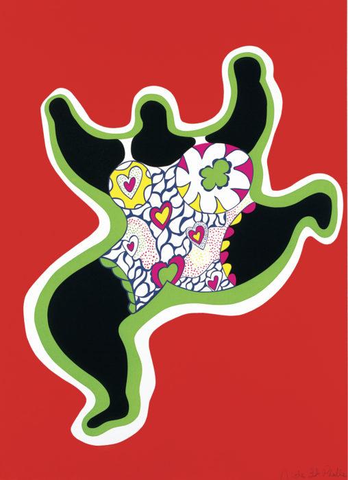 ◼Niki de Saint Phalle:  Leaping Nana (1970).