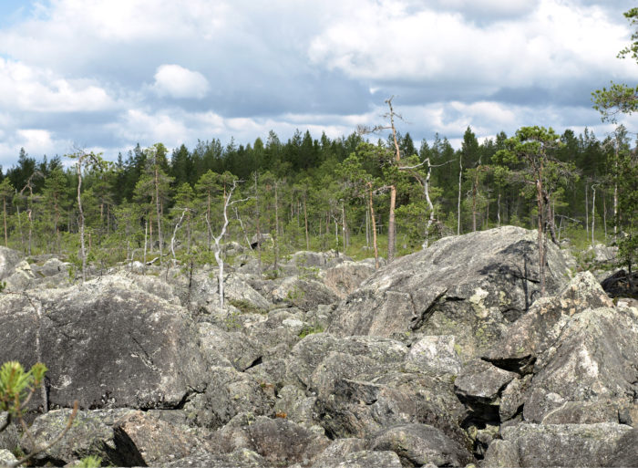 ◼Luolikon suurimmat kivet ovat pienen mökin kokoisia.