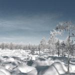 ◼Talvella lumipeite helpottaa liikkumista petollisessa kivikossa.