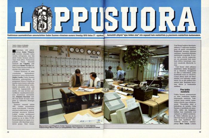 """SK 36/1991(6.9.1991)  Pekka Hyvärinen: """"Loppusuora"""""""