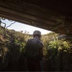 ◼Juoksuhauta ulottuu muutaman kymmenen metrin päähän kapinallisten asemista.