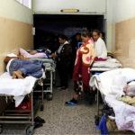 ◼Potilaat on majoitettu päivystysvastaanoton käytävälle Meridan  yliopistosairaalassa 17.kesäkuuta.