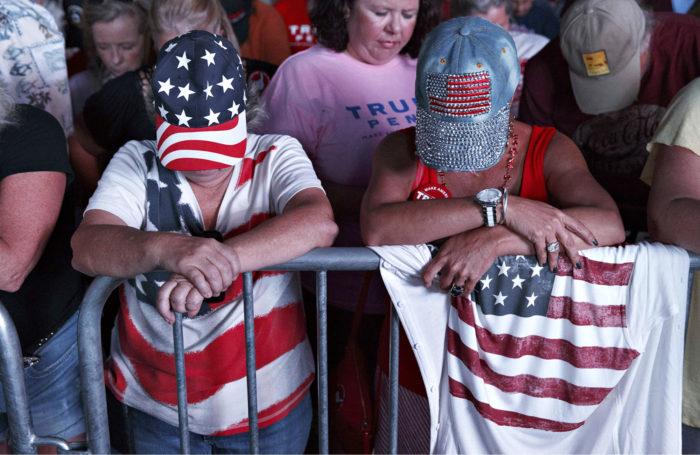 ◼Trumpin kannattajia Floridassa lokakuussa 2016.