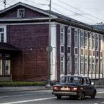 ◼ Petroskoin keskustassa on amerikansuomalaisten rakentamia taloja.