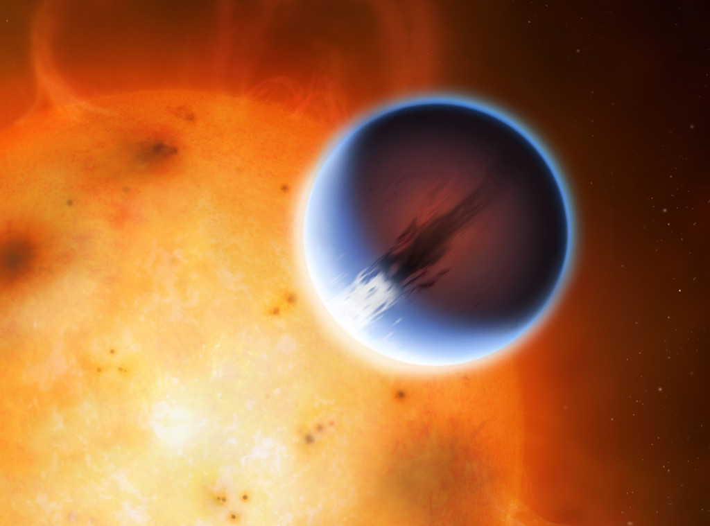 Kepler 438b is an Earth-like extrasolar planet orbiting the star Kepler 438, some 470 lightyears away in Lyra. The planet has an ESI (Earth Similarity Index) of 0.88, the highest currently measured. It's an indication of how similar physically a given world is compared to Earth, and it takes into account the planet's mass, radius, density, escape velocity and surface temperature. Although Kepler 438b is similar physically the Earth, the star Kepler 438 is a flaring red dwarf, highly volatile. It is therefore quite unlikely that the planet harbors any form of life, despite its high ESI.