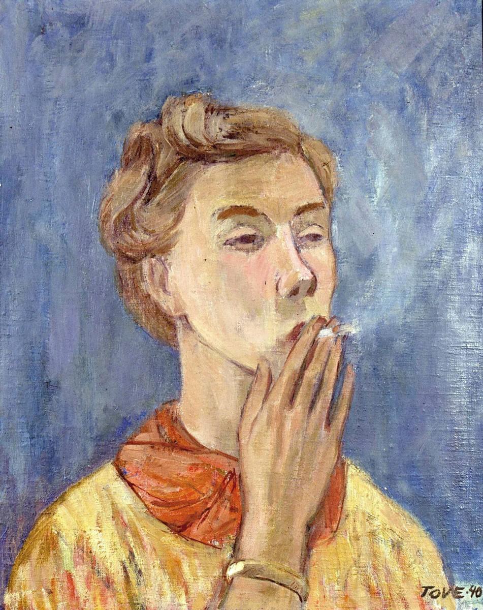 Tove Jansson, Self Portrait. - lush retina | lush-retina