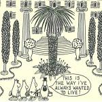 Tove Janssonin alkuperäinen sarjakuvaruutu.