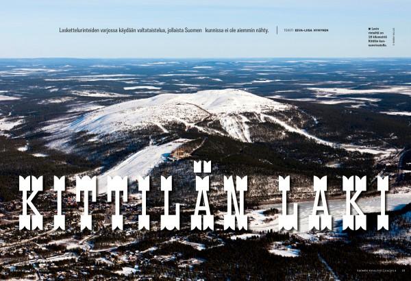 Suomen Kuvalehti kertoi Kittilän valtataistelusta muun muassa kesäkuussa 2014 (SK 24/2014).