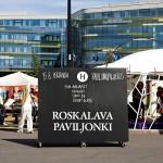 Roskalavapaviljongin avajaisia vietettiin 15. elokuuta.