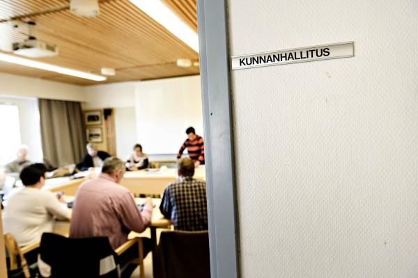 Kittilän kunnanhallituksen kokoushuone. Arkistokuva.