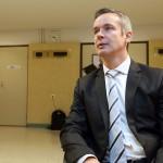 Professori Pekka Santtila Auer-oikeudenkäynnissä Satakunnan käräjäoikeudessa Porissa syyskuussa 2013.