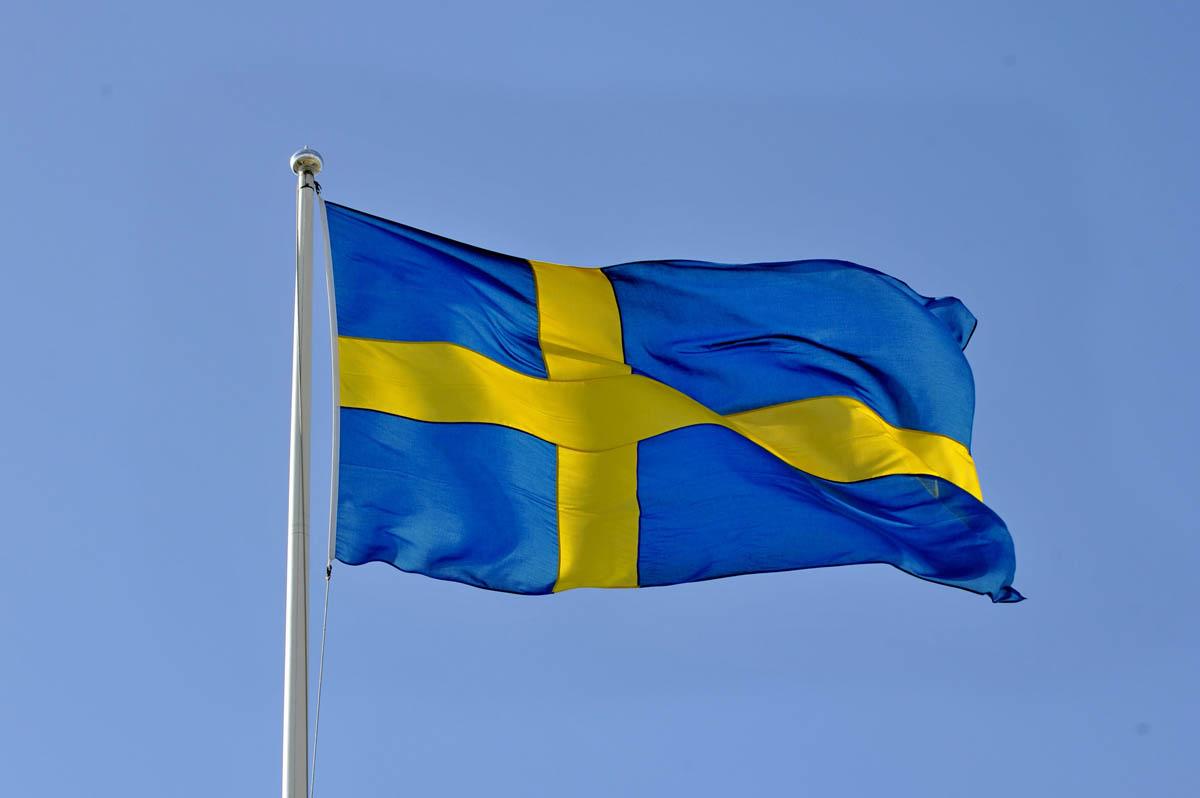 Ruotsin lippu.