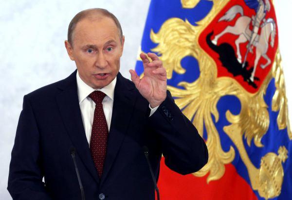 Venäjän presidentti puhuu kansalle joulukuussa 2012.