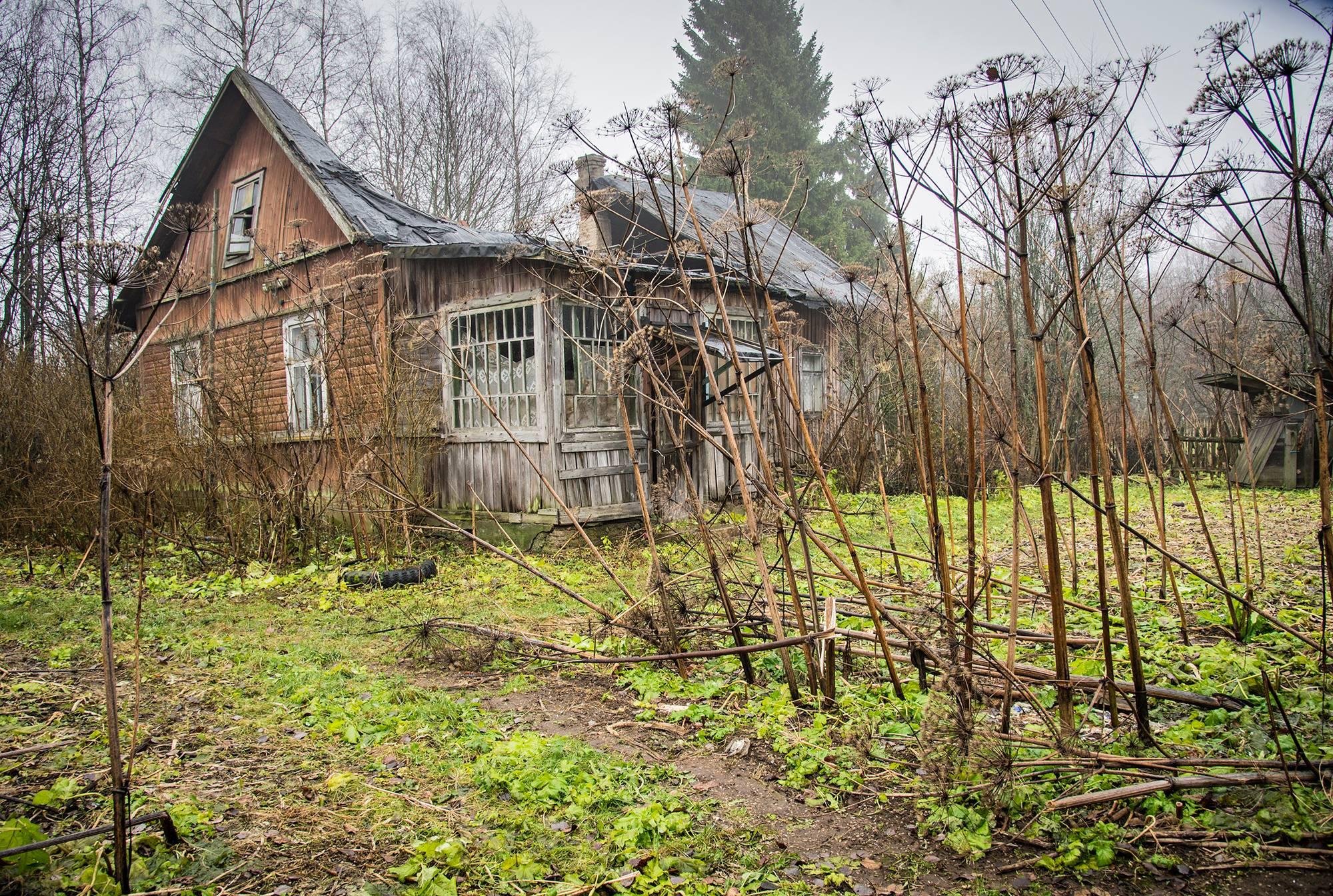 Suokkaan talo Joutselässä on romahtanut.