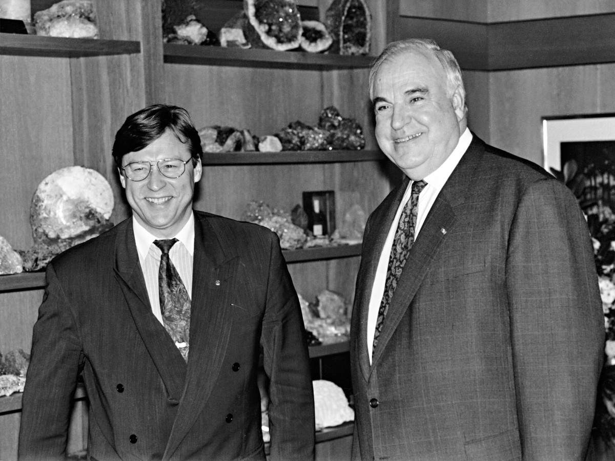 Pertti Salolainen ja Helmut Kohl.