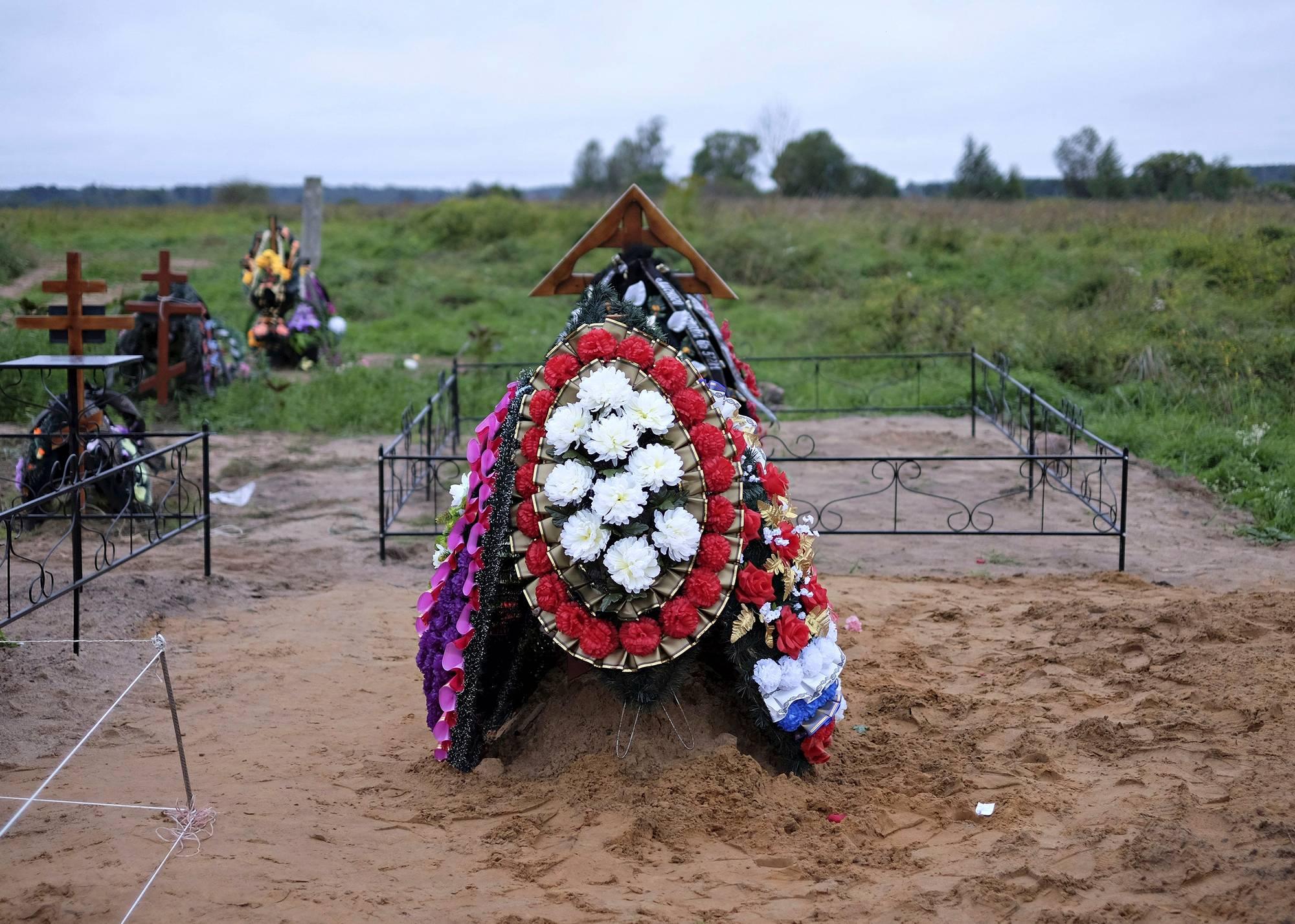 Venäläissotilaan hauta.