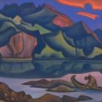 Nikolai Roerich: Kätketty aarre (1947).