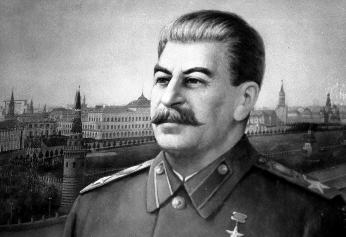 Muotokuvamaalaus Josif Stalinista.