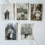 Näitä onnellisia, sota-aikana otettuja kuvia vanhemmistaan Hanna Jensenin äiti Tellervo Suomalainen on vaalinut tarkasti.