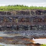 Kuusilammen avolouhos on toiminut Talvivaaran kaivoksen vesivarastona. Kuva otettu 15. kesäkuuta 2015.