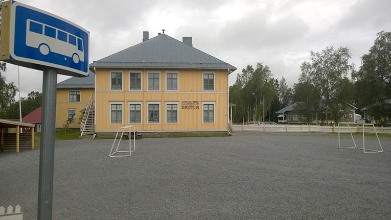 Molpen koulu on yksi Korsnäsin äänestyspaikoista.