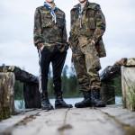 15-vuotiaat Paavo Pehkonen (vas.) ja Antti- Kalle Karasti ovat rovaniemeläisestä Napapiirin pojat -lippukunnasta. He aloittivat partion ekaluokkalaisina.