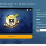 Kuvakaappaus Jurase Parkin verkkosivuista.