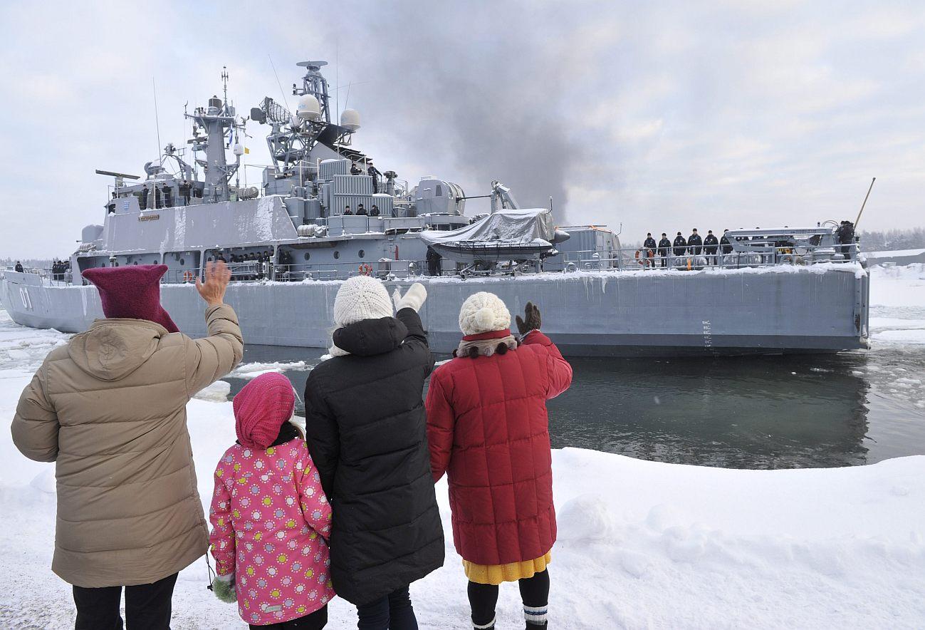 Pohjanmaa lähti Atalanta-operaatioon Upinniemestä 5. tammikuuta 2011.