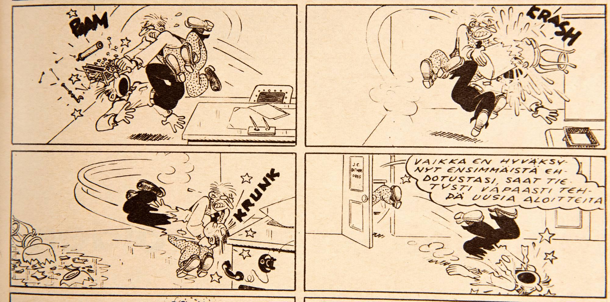 Heikki jätti aloitteen, mutta johtaja Tiitinen halusi vielä keskustella. SK 45/1957.