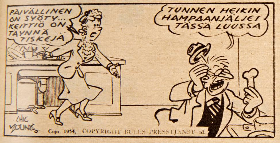 Hyvä johtaja tuntee alaisensa läpikotaisin. SK 23/1957.