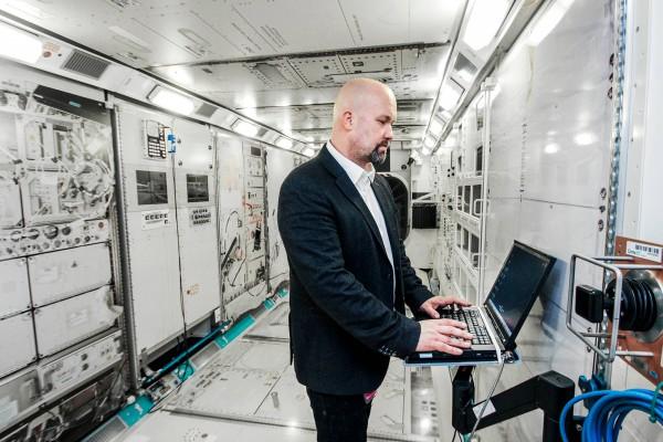 Johnsonin avaruuskeskuksessa on koulutuskäyttöön tarkoitettu ISS-avaruusaseman kopio. Kimmo Nieminen.