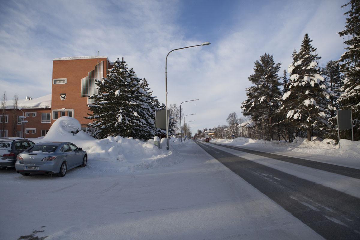 Kittilän kunnan keskustaa.