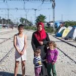 Haifa, 29, pakeni Alepposta lastensa Ramin, 3, ja Ramian, 5, kanssa. Mukana kulkee myös 14- vuotias Omar. Päämääränä on Saksa.