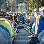 Idomenin leirissä Makedonian rajalla elää 10000 ihmistä.
