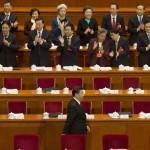 Presidentti Xi Jinping saapui Kiinan kansankongressin avajaisiin Pekingin suuressa kansanpalatsissa 5. maaliskuuta 2016.