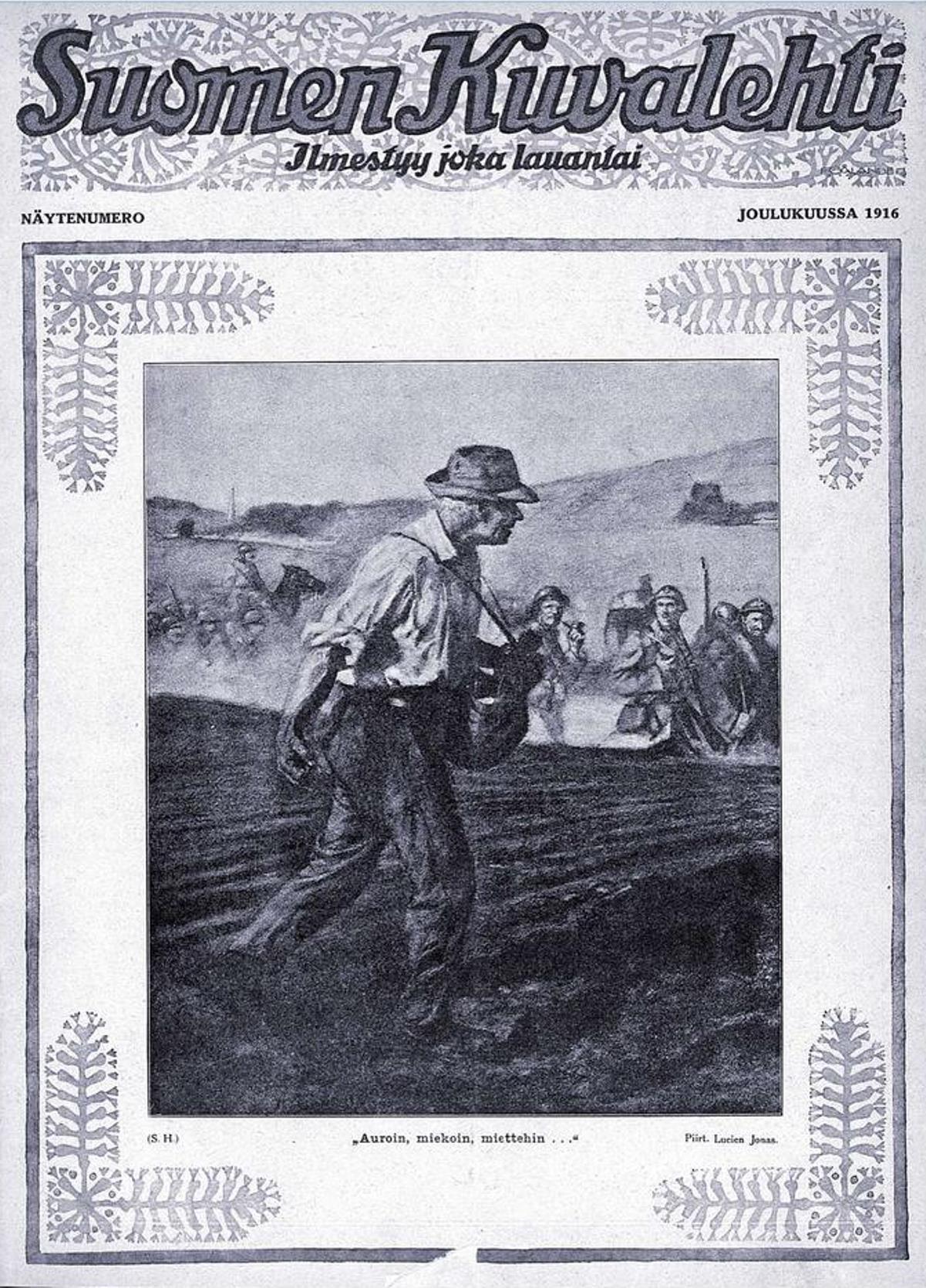 Suomen Kuvalehden näytenumero joulukuussa 1916.