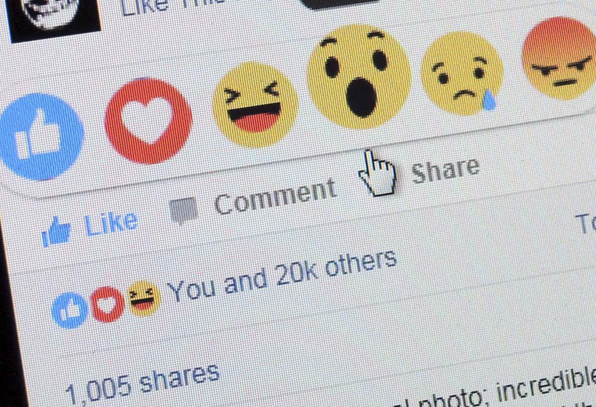 Facebookin reagointinappulat.