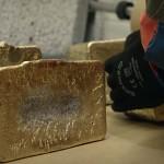 Kultaharkkoja Kittilän kaivoksesta.
