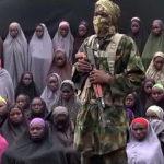 Boko Haram julkaisi 24. elokuuta 2016 videon, jolla sen mukaan oli Chibokista huhtikuussa 2014 kaapattuja koulutyttöjä. Kuvakaappaus videosta.