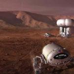 Miehitetty Mars-lento on vielä tulevaisuutta, mutta silti suunnitelmissa on jo naapuriplaneettamme asuttaminen. Taiteilijan näkemys tulevaisuuden Marsista.