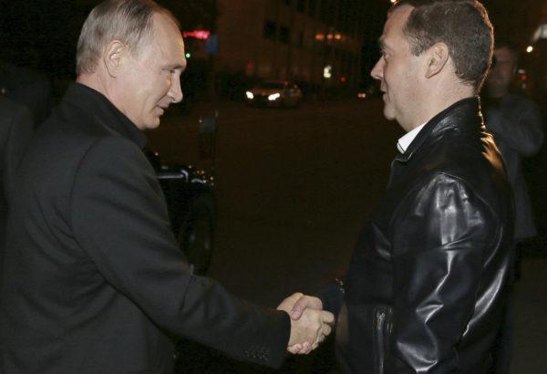 presidentti Vladimir Putin ja pääministeri Dmitri Medvedev.